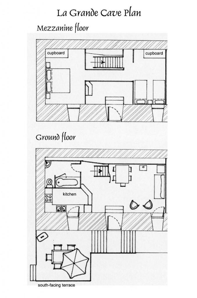 La Grande Cave plan d'etage