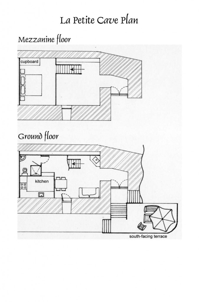La Petite Cave plan d'etage