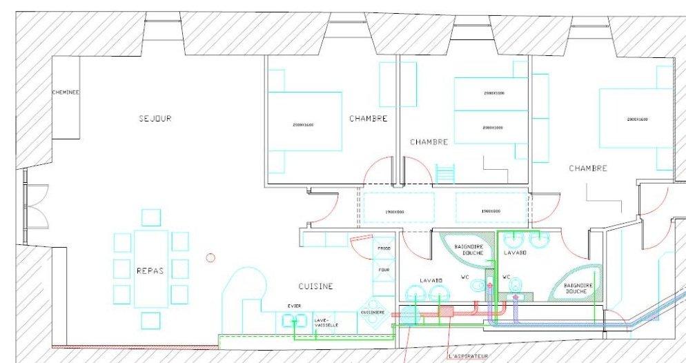 L'Atelier indeling van de gite
